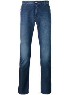 джинсы кроя слим с потертой отделкой Isaia