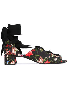 floral lace-up shoes Erdem