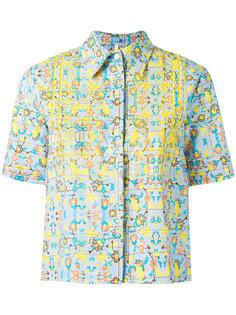 рубашка с цветочным принтом  Miahatami