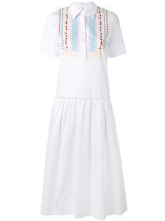 платье-рубашка с вышивкой  Miahatami