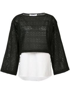 контрастная блуза Derek Lam 10 Crosby