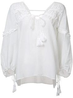 блузка с завязкой Derek Lam 10 Crosby