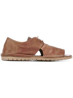 сандалии с открытым носком и шнуровкой Marsèll