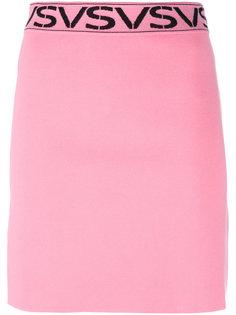юбка с логотипом на поясе Versus