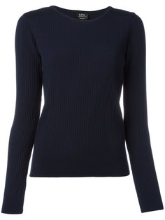ribbed detail sweatshirt  A.P.C.