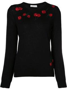 свитер с вышивкой вишен Altuzarra