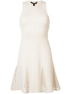 платье с сетчатыми панелями Derek Lam