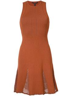 платье в рубчик с сетчатыми панелями Derek Lam