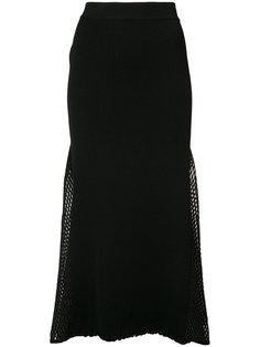 юбка в рубчик с сетчатыми панелями Derek Lam