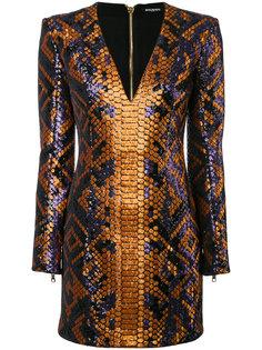 структурированное мини-платье  Balmain