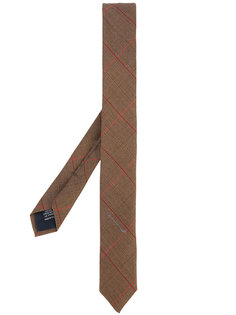 узкий галстук в клетку Weber + Weber