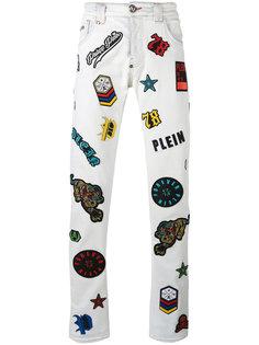 джинсы с вышивкой  Philipp Plein