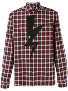 рубашка в клетку Lightning Bolt Neil Barrett