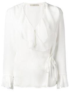 блузка с запахом и рюшами Etro