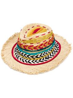 шляпа-федора с плетеной отделкой Etro