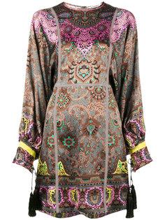 короткое платье с принтом пейсли Etro