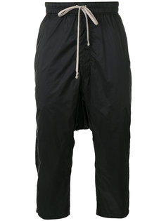 укороченные брюки со сборками Rick Owens DRKSHDW
