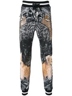 спортивные штаны с рисунком Philipp Plein