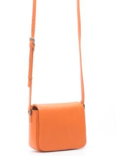 Оранжевая кожаная сумка Pimo Betti
