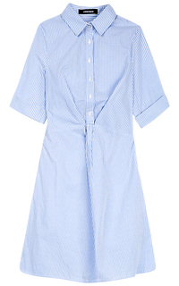 Платье-рубашка с защипами La Reine Blanche