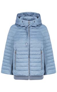 Голубая куртка с капюшоном Clasna