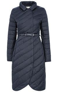 Утепленное пальто с поясом Clasna