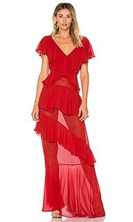 Шелковое платье с рюшами - ADRIANA DEGREAS