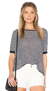 Stripe distressed crop tee - Autumn Cashmere