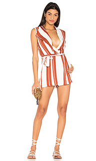 Striped draped playsuit - MINKPINK