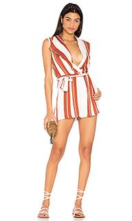 Striped draped playsuit - MINKPINK