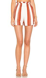 Stripe paper bag shorts - MINKPINK