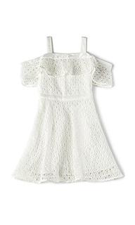 Mesh cold shoulder dress - Bardot Junior
