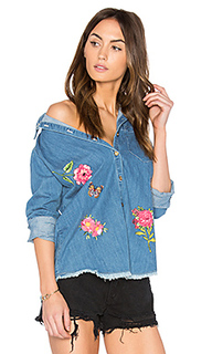 Sloane button up denim shirt - Lauren Moshi
