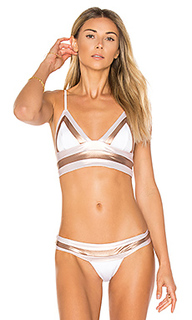 Tequila sunrise long line bralette bikini top - Beach Bunny