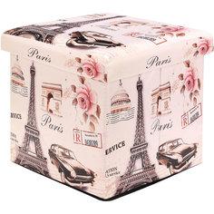 """Пуф складной с ящиком для хранения 35*35*35 см. """"Эйфелева башня"""", EL Casa"""