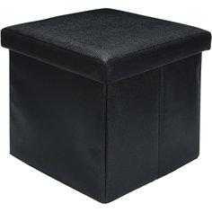 """Пуф складной с ящиком для хранения 35*35*35 см. """"Черный"""", EL Casa"""