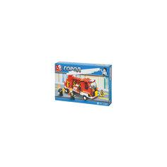 """Конструктор """"Город: Пожарная машина с лестницей"""", 175 деталей, Sluban"""