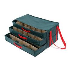 Большой органайзер для ёлочных игрушек New Year (57*25*27), Homsu