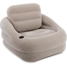 Надувное кресло Акцент 97х107х71см, Intex, серый