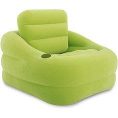 Надувное кресло Акцент 97х107х71см, Intex, зеленый