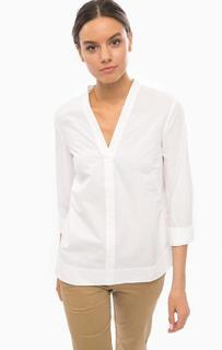 Белая хлопковая блуза с длинными рукавами Marc Opolo