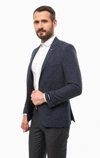Синий пиджак из шерсти Lagerfeld
