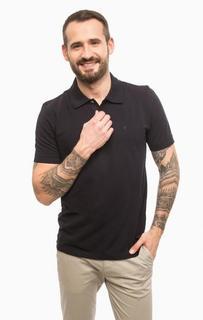 Хлопковая футболка поло синего цвета Pierre Cardin
