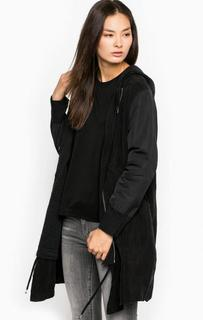 Черная двусторонняя куртка с капюшоном Diesel