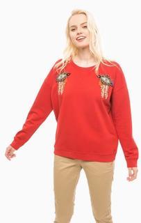Красный свитшот с вышивкой Scotch&Soda