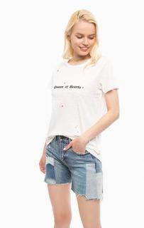 Белая футболка с круглым вырезом Scotch&Soda