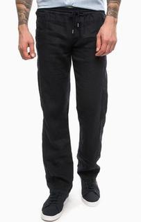 Льняные брюки прямого кроя Lagerfeld