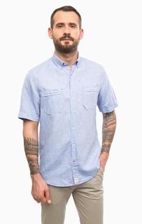 Рубашка с короткими рукавами и двумя карманами Pierre Cardin