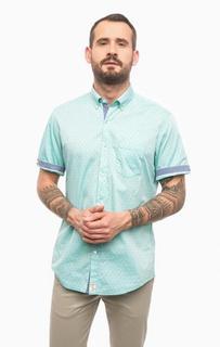 Хлопковая рубашка с короткими рукавами Pierre Cardin