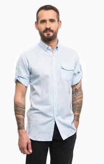 Голубая рубашка с карманом Lagerfeld